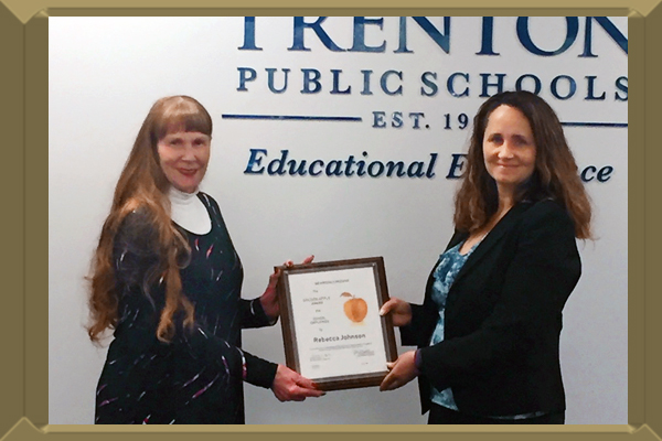 Congratulations to Trenton High School Paraprofessional Rebecca Johnson.