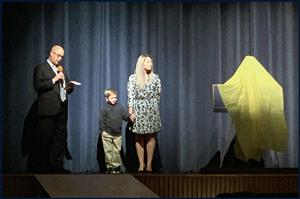 Prior to The Addams Family musical, Superintendent Mr. Rod Wakeham and members of the Hamilton famil